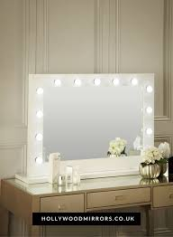audrey hollywood mirror in white gloss