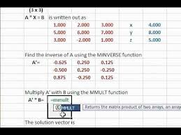 solve system of linear equations using