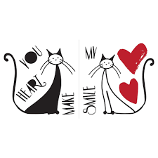 Shop Brewster Cr 62144 Home Decor Line Love And Cats Wall Decorating Kit 9 Pieces Black Overstock 28386191