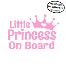 Little Princess On Board Car Sticker Decal Hss077 By Happy Snail Stickers The Perfect Gift For Mothers Day O Car Stickers Funny Little Princess Car Stickers
