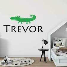 Alligator Decal Personalized Name Wall Decal Db339 Designedbeginnings
