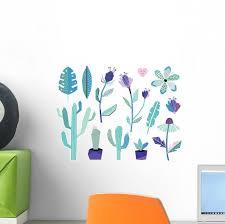 Summer Jungle Plants Wall Decal Sticker Set Wallmonkeys Com