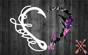 Heart Hunting Antler Fish Hook Camo Guy Car Truck Decal Laptop Yeti Tumbler Cup Ebay