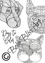 Volwassen Kleurplaten Hond Mandalas Diy Pagina S Naar Etsy