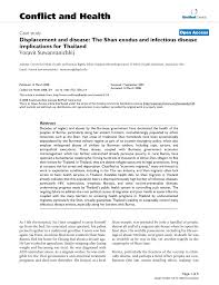 pdf displacement and disease the shan