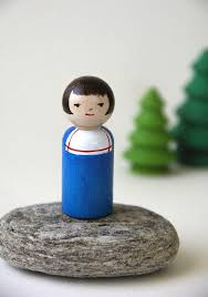 Priscilla Wood Peg Person - Story Kid (With images) | Peg people, Wooden  pegs