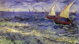 vincent van gogh boat painting sea