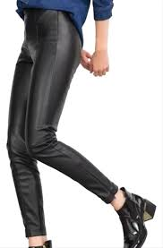zara black new faux leather mid rise