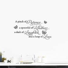 Amazon Com Gauan Wall Decal Sticker Art Mural Home Decor A Pinch Of Patience A Spoonful Of Kindness For Kitchen Living Room Home Kitchen
