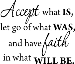 Amazon Com Accept What Is Let Go Of What Was And Have Faith In What Will Be Inspirational Wall Decal Vwaq 1646 Home Kitchen