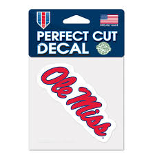 Ncaa Ole Miss Rebels Window Decal Ole Miss Rebels University Of Mississippi