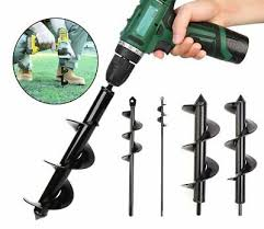 2x9 2x18 Earth Auger Plant Ground Fence Post Hole Digger Drilling Drill Bit Ebay
