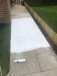How To Stencil A Concrete Patio Or Path In Your Garden I Am Hayley Stuart