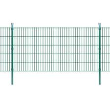 Vidaxl Fence Panel With Posts Iron 3 4x1 6 M Green Home Garden And Diy Tools Webshop