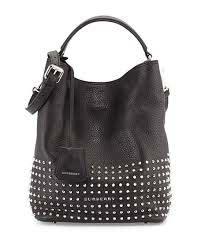 small black leather studded handbags