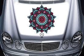 Mandala Car Sticker Car Rear Window Boho Decals Mandala Flower Graphic Color Em4