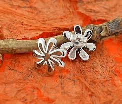 koa wood tiare earrings silver hawaiian