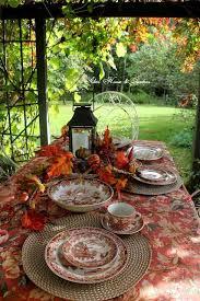 autumn tablescape in the terrace