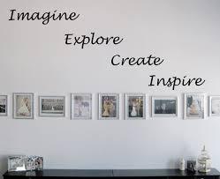 Imagine Explore Create Inspire Beautiful Wall Decals