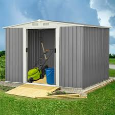 outdoor steel storage shed 8x6 pool