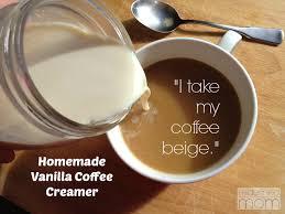 homemade vanilla coffee creamer recipe