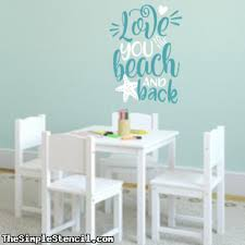 I Love You To The Beach And Back Cute Wall Decal Stickers For Beach Decor