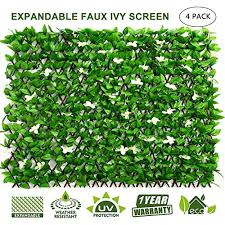 Doeworks Expandable Fence Privacy Screen For Balcony Patio Outdoor Faux Ivy Fencing Panel For Backdrop