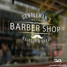 Barber Shop Window Sign Barber Shop Sign Simple Barber Shop Decal Indianbusinesstrade Com