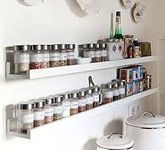 wall mount spice rack floating shelf