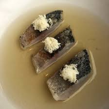 horseradish and mackerel broth ...