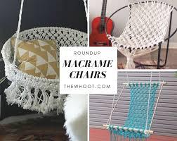 macrame hanging chair diy is super easy