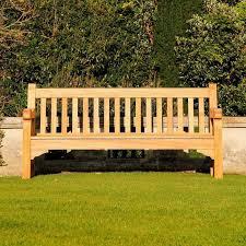 good looking teak garden bench floating