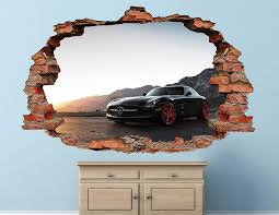 Amazon Com Mercedes Benz New Brick Wall Decal Sticker Sports Wall Decal Decor Art 3d Vinyl Wall Decal Ah519 Large Wide 40 X 24 Height Home Kitchen