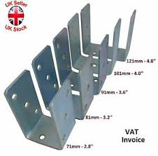 Heavy Duty Galvanised U Shape Post Fence Foot Anchors Thickness 4mm Ebay