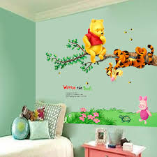 Winnie The Pooh Tigger Tree Wall Decals Free Combination Vinyl Mural Sticker Kids Nursery Decor Kids Wall Stickers Wall Stickers Aliexpress