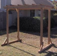 cedar wood garden arbor pergola arch