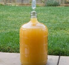 homemade fermenter for honey wine