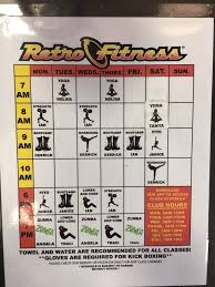 retro fitness schedule fitness and