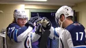 Patrik Laine and Adam Lowry have an amazing Fortnite inspired pre-game  handshake - Article - Bardown