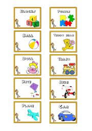 toys flashcards toy story theme esl