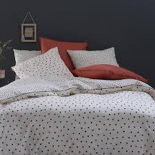 lison washed cotton duvet cover polka