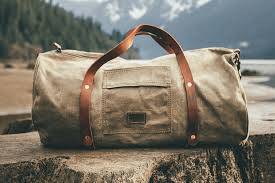22 timeless waxed canvas duffle bag