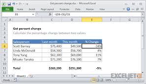 excel formula get percent change