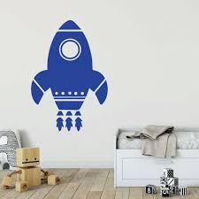 Rocket Shipwall Decal Space Vinyl Decor Wall Decal Customvinyldecor Com