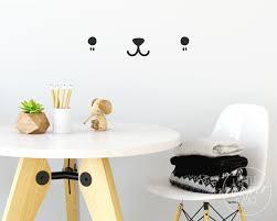 Cute Kawaii Face Wall Decal Cat Dog Bear Animal Eyes Nose Etsy