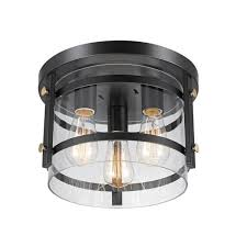 3 light dark bronze semi flush mount