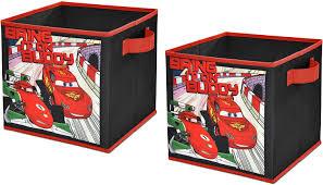 Amazon Com Disney Cars 2 Storage Cubes Set Of 2 10 Inch Toys Games