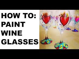 painted wine glasses tutorial you
