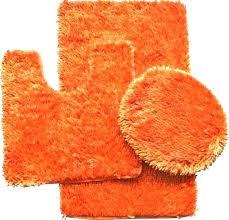 orange bath rugs