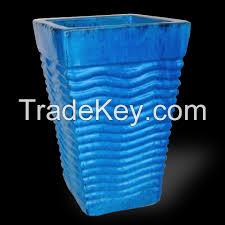 tall square and slanted ceramic vase